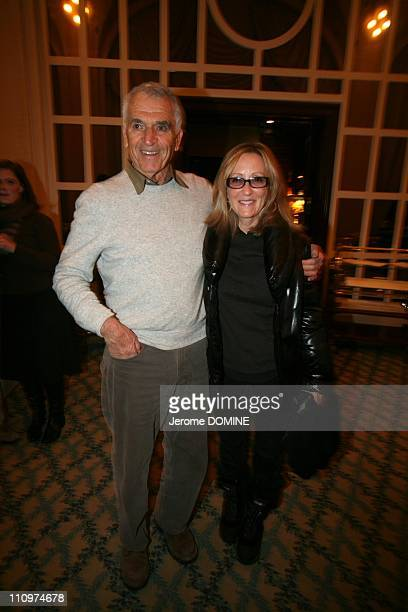 Alvin Sargent and his wife Laura Ziskin American producer in Evian France on December 08th 2007