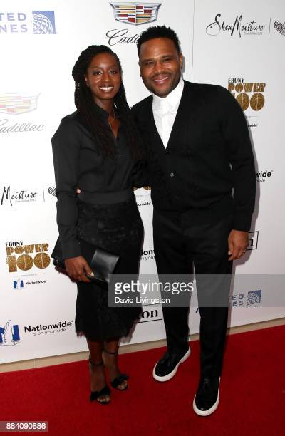 Alvina Stewart and actor Anthony Anderson attend Ebony Magazine's Ebony's Power 100 Gala at The Beverly Hilton Hotel on December 1 2017 in Beverly...