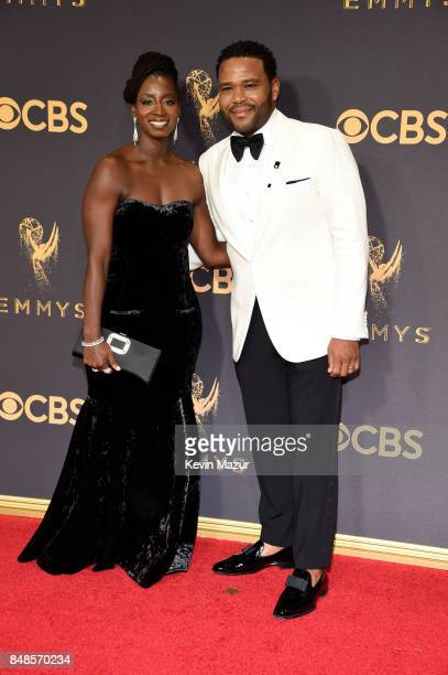 Alvina Stewart and actor Anthony Anderson attend the 69th Annual Primetime Emmy Awards at Microsoft Theater on September 17 2017 in Los Angeles...