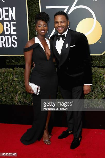 Alvina Stewart and actor Anthony Anderson attends The 75th Annual Golden Globe Awards at The Beverly Hilton Hotel on January 7 2018 in Beverly Hills...