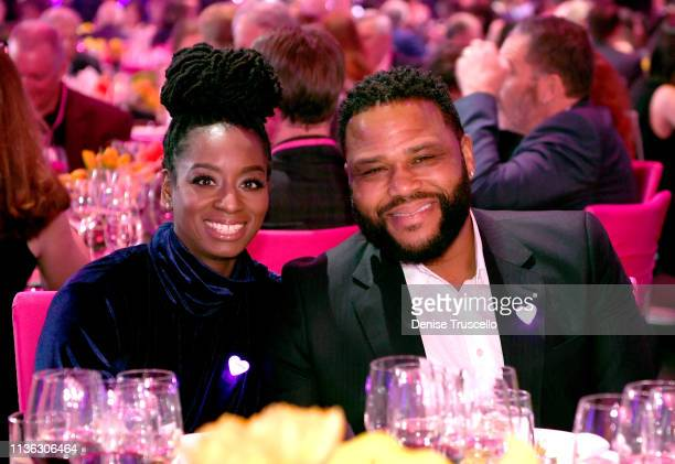 Alvina Stewart and Anthony Anderson attend the 23rd annual Keep Memory Alive 'Power of Love Gala' benefit for the Cleveland Clinic Lou Ruvo Center...