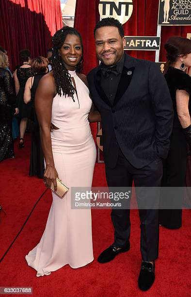 Alvina Stewart and Anthony Anderson attend The 23rd Annual Screen Actors Guild Awards at The Shrine Auditorium on January 29 2017 in Los Angeles...