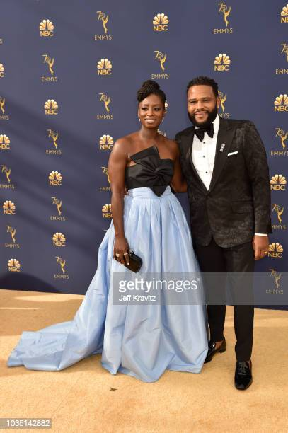 Alvina Stewart and Anthony Anderson attend the 70th Emmy Awards at Microsoft Theater on September 17 2018 in Los Angeles California