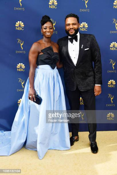 Alvina Stewart and Anthony Anderson attends the 70th Emmy Awards at Microsoft Theater on September 17 2018 in Los Angeles California