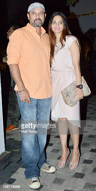 Alvira Khan and Atul Agnihotri during the house warming party of Imran Khan in Mumbai