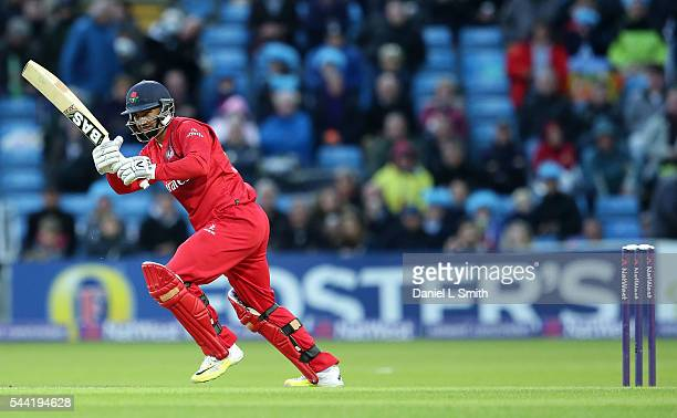 Alviro Petersen of Lancashire Lightning bats during the NatWest T20 Blast match between Yorkshire Vikings and Lancashire Lightning at Headingley on...