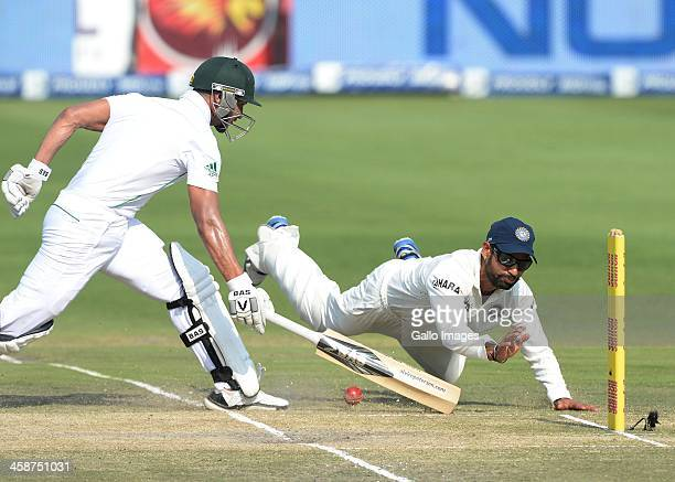 Alviro Petersen of South Africa makes his ground during day 4 of the 1st Test match between South Africa and India at Bidvest Wanderers Stadium on...