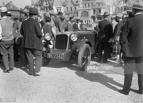 Alvis FWD 1500 cc. Vehicle Reg. No. WK7343. Place: Boulogne Motor Week. Date: 3-9.9.28. Artist Bill Brunell.