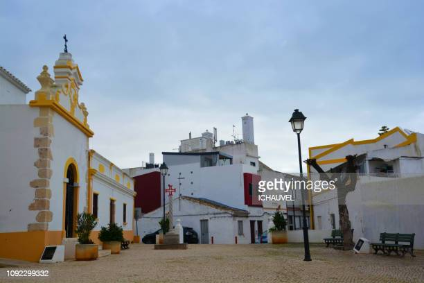 alvor , church , algarve portugal - alvor stock pictures, royalty-free photos & images
