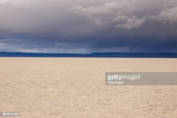 alvord desert playa and stormclouds - steens mountain stock pictures, royalty-free photos & images