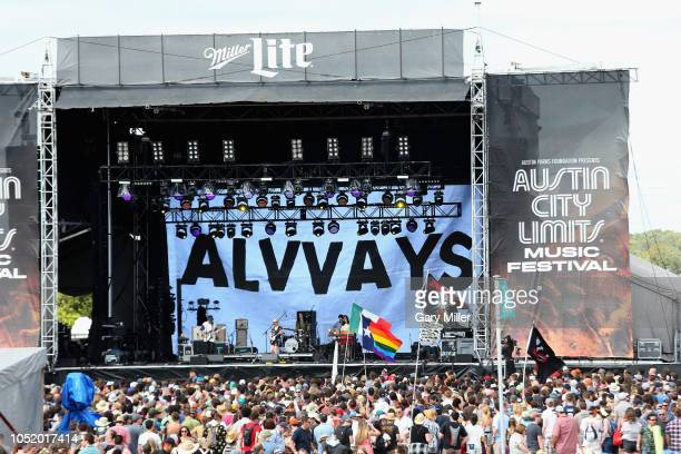 Alvvays perform in concert during the second weekend of the ACL Music Festival at Zilker Park on October 12 2018 in Austin Texas