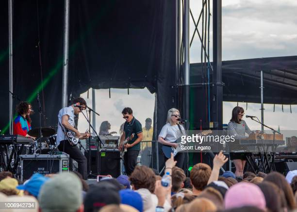 Alvvays perform on day one of Mo Pop Festival at West Riverfront Park on July 28 2018 in Detroit Michigan