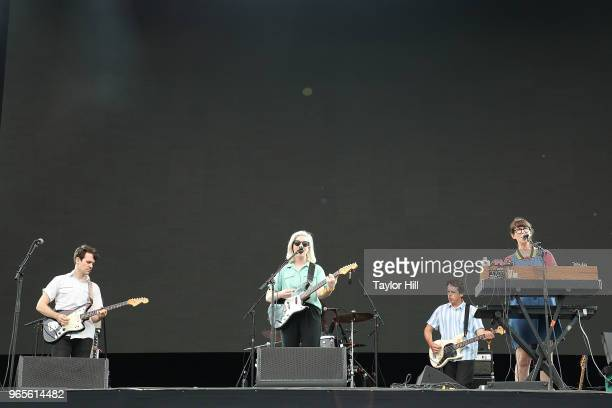Alvvays performs onstage during Day 1 of 2018 Governors Ball Music Festival at Randall's Island on June 1 2018 in New York City