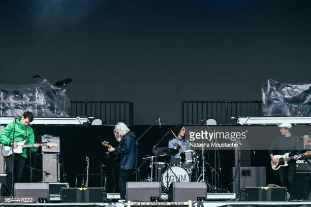 Alvvays performs onstage during day 3 of 2018 Boston Calling Music Festival at Harvard Athletic Complex on May 27 2018 in Boston Massachusetts