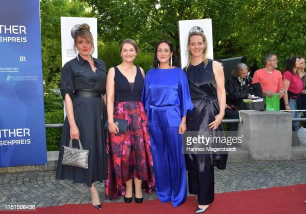 Alwara Höfels, Judith Gerlach, Neshe Demir and Anna Schudt attend the Bayerische Fernsehpreis 2019 at Prinzregententheater on May 24, 2019 in Munich,...