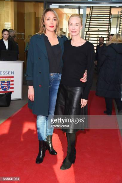 Alwara Hoefels and Feo Aladag attend the Hessian Reception 2017 during the 67th Berlinale International Film Festival Berlin on February 14 2017 in...