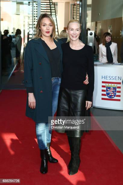 Alwara Hoefels and Feo Aladag attend the Hessian Reception during the 67th Berlinale International Film Festival Berlin at on February 14 2017 in...