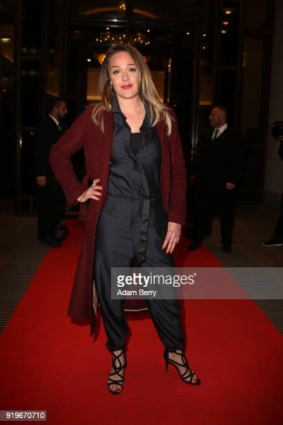 Alwara Hoefels attends the Medienboard BerlinBrandenburg Arrivals during the 68th Berlinale International Film Festival Berlin at on February 17 2018...