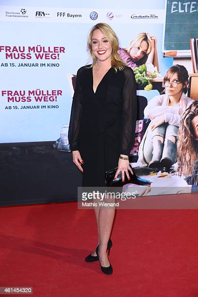 Alwara Hoefels attends the premiere of the film 'Frau Mueller muss weg' at Cinedom on January 12 2015 in Cologne Germany