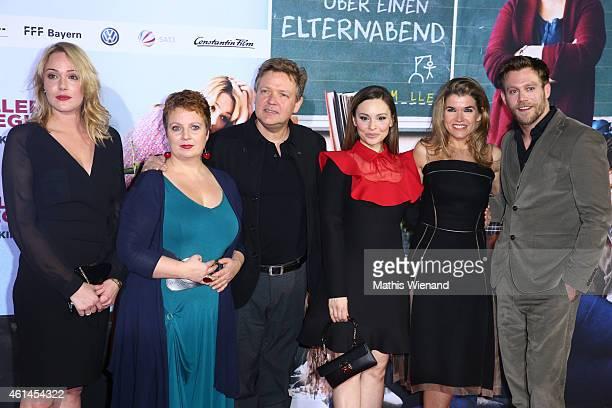 Alwara Hoefels Gabriela Maria Schmeide Justus von Dohnanyi Petra Mueller Mina Tander Anke Engelke and Ken Duken attend the premiere of the film 'Frau...