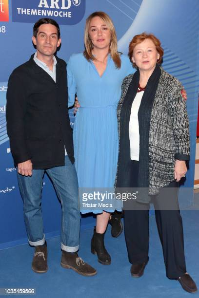 Alwara Hoefels Imogen Kogge and Christoph Bach attend the photocall for ARD theme week 'Gerechtigkeit' on September 18 2018 in Hamburg Germany