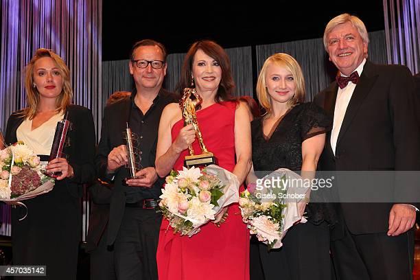 Alwara Hoefels Matthias Brandt Iris Berben Anna Maria Muehe Volker Bouffier attend the Hessian Film And Cinema Award 2014 on October 10 2014 at Alte...
