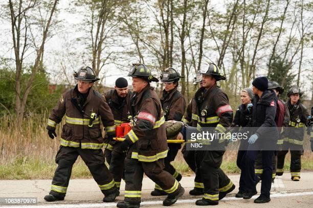 FIRE 'Always a Catch' Episode 709 Pictured Christian Stolte as Randall 'Mouch' McHolland Joe Minoso as Joe Cruz Randy Flagler as Capp Miranda Rae...