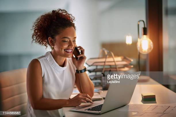 always be ready when business comes calling - one young woman only stock pictures, royalty-free photos & images