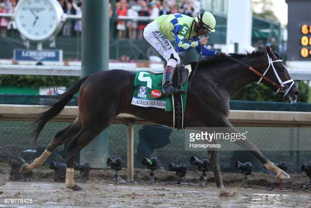 Always Dreaming with John Velazquez up wins the 143rd Kentucky Derby at Churchill Downs KY on May 6 2017 in Louisville Kentucky