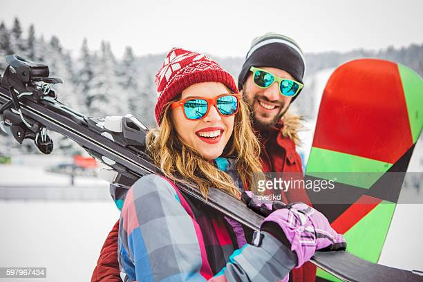 always for active holidays - winter sport stock pictures, royalty-free photos & images