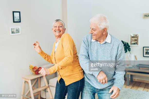 always having fun together - active senior stock photos and pictures