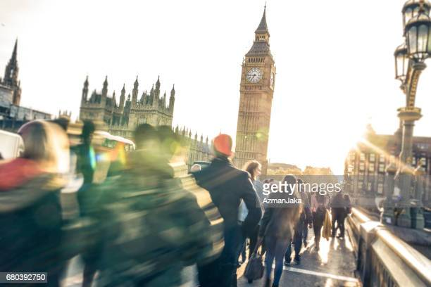always in a hurry - houses of parliament london stock photos and pictures