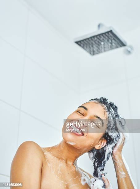 always keep your hair in healthy and good condition - washing hair stock pictures, royalty-free photos & images