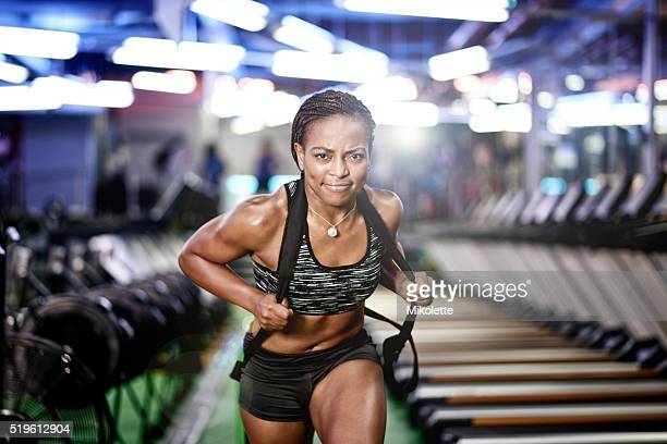 i always pull my weight - black female bodybuilder stock photos and pictures