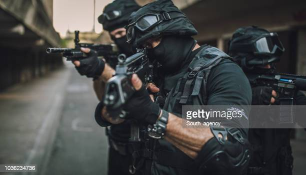 swat always ready for action - swat team stock photos and pictures