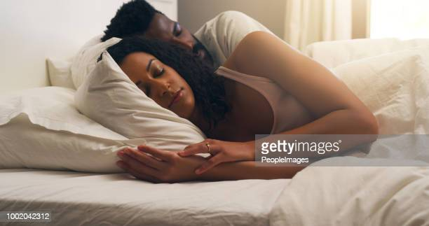 i always sleep better with you - couple sleeping stock pictures, royalty-free photos & images