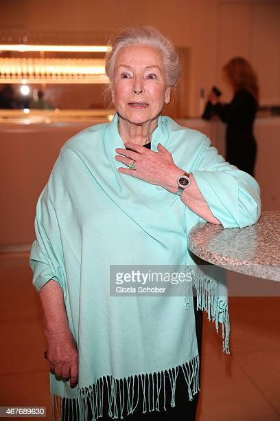 Alwy Becker mother of Cosima von Borsody during the premiere of the musical Elisabeth at Deutsches Theatre on March 26 2015 in Munich Germany