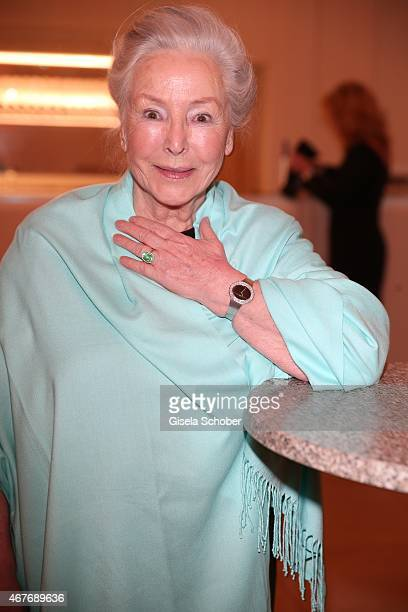 """Alwy Becker, mother of Cosima von Borsody, during the premiere of the musical """"Elisabeth"""" at Deutsches Theatre on March 26, 2015 in Munich, Germany."""