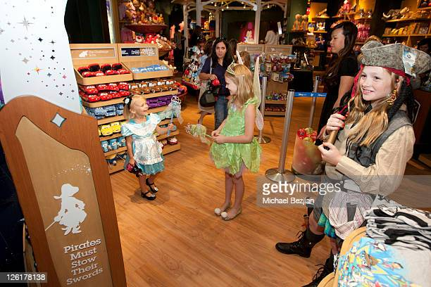Aly AlynLind Emily AlynLind and Natalie AlynLind attend the Disney Store Halloween BOOtique Event At Santa Monica Place at Santa Monica Place on...