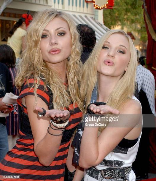 Aly and AJ during World Premiere of Walt Disney Pictures' 'Pirates of the Caribbean Dead Man's Chest' Arrivals at Disneyland in Anaheim California...
