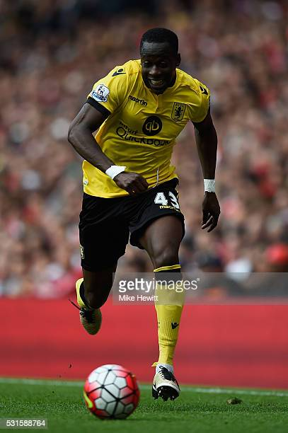 Aly Cissokho of Aston Villa in action during the Barclays Premier League match between Arsenal and Aston Villa at the Emirates Stadium on May 15 2016...
