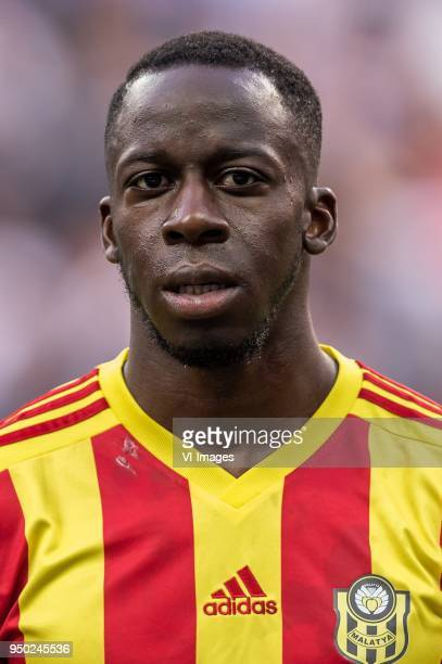 Aly Cissokho of Evkur Yeni Malatyaspor during the Turkish Spor Toto Super Lig football match between Besiktas JK and Evkur Yeni Malatyaspor on April...