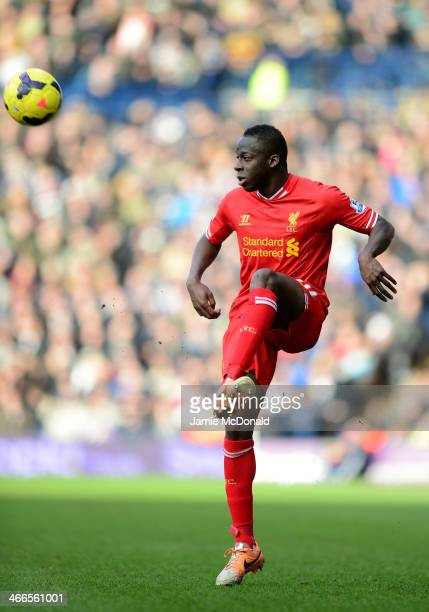 Aly Cissokho of Liverpool controls the ball during the Barclays Premier League match between West Bromwich Albion and Liverpool at The Hawthorns on...