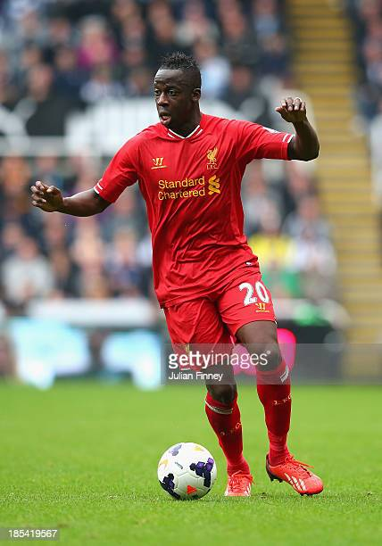 Aly Cissokho of Liverpool in action during the Barclays Premier League match between Newcastle United and Liverpool at St James' Park on October 19...