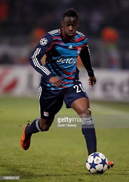 Aly Cissokho of Lyon during the Champions League match between Lyon and Real Madrid at Stade Gerland on February 22 2011 in Lyon France