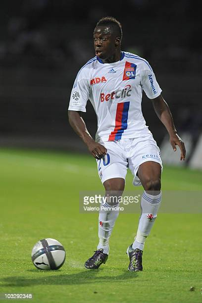Aly Cissokho of Olympique Lyonnais in action during the Ligue 1 match between Olympique Lyonnais and AS Monaco FC at Gerland Stadium on August 7,...