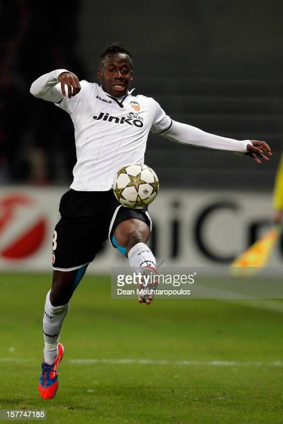 Aly Cissokho of Valencia in action during the UEFA Champions League Group F match between OSC Lille and Valencia CF at the Grand Stade Metropole...
