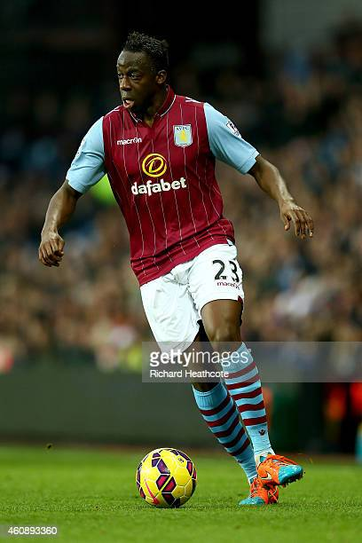 Aly Cissokho of Villa in action during the Barclays Premier League match between Aston Villa and Sunderland at Villa Park on December 28 2014 in...