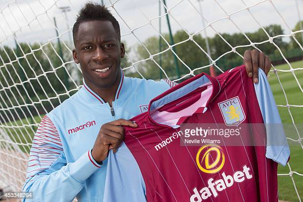 Aly Cissokho poses for a picture as he is unveiled as a new signing for Aston Villa Football Club at the club's training ground at Bodymoor Heath on...