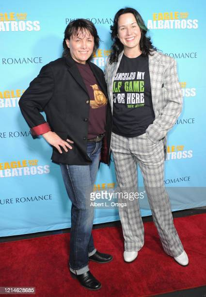 Aly Drummond and Angela Shelton attend the premiere of Eagle and the Albatross held at Charlie Chaplin Theatre on February 29 2020 in Los Angeles...